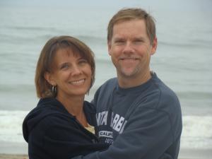 Raylene and I on beach 201-1